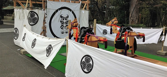 六郷神社の子供流鏑馬射場